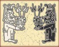 символы типа орнамента maya календара Стоковая Фотография RF