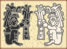 символы типа орнамента maya календара Стоковое Изображение RF