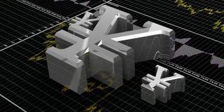 Символы финансов Стоковые Изображения RF