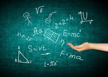 Символы школы принципиальная схема воспитательная Иллюстрация воспитательной концепции задняя школа принципиальной схемы к Стоковое Изображение