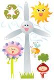 Символы Eco Стоковое Фото
