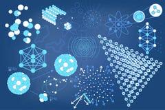 Символы Eelements и схемы физики Стоковые Изображения