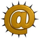 Символ электронной почты с колючками Стоковые Изображения