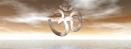 Символ Aum - 3D представляют Стоковая Фотография