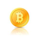 Символ Bitcoin, значок, знак, эмблема также вектор иллюстрации притяжки corel Стоковое фото RF