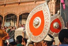 Символ Devtas будучи снесенным во время Shivratri Стоковые Изображения