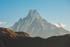 Символ Fishtail горы Непала Machhapuchhre Стоковое Фото