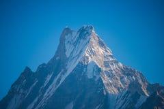 Символ Fishtail горы Непала Machhapuchhre Стоковая Фотография