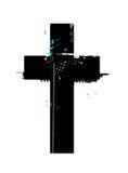 Символ Grunge перекрестный Стоковые Изображения
