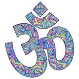 Символ Om на белой предпосылке Стоковая Фотография RF