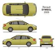 Символ 2009 Renault Стоковое Изображение