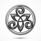 Символ triskel вектора каменный кельтский Стоковая Фотография