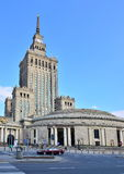 символ warsaw науки Польши дворца культуры коммунизма Стоковая Фотография
