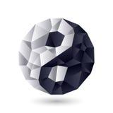 символ Ying-yang сработанности и баланса Стоковая Фотография