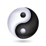 символ Ying-yang сработанности и баланса Стоковое фото RF