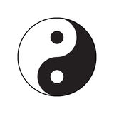 символ Ying-yang сработанности и баланса Стоковые Фотографии RF