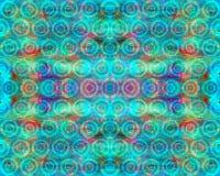 Симметричная картина кругов на предпосылке радуги Стоковая Фотография RF