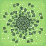 Симметричный геометрический круговой состав картины заводов Стоковые Фотографии RF
