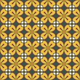 Симметричный геометрический цветочный узор Стоковые Изображения