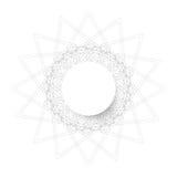 Симметричный круг форма круга guilloche также вектор иллюстрации притяжки corel Стоковое Фото