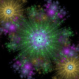 Симметричный рост бактерий Стоковые Изображения RF
