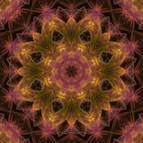 Симметрия мандалы графическая, мозаика баланса орнамента текстуры уникальная, восточное оформление иллюстрация штока
