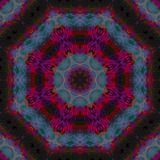 Симметрия мандалы графическая, мозаика баланса текстуры уникальная, восточное оформление иллюстрация вектора