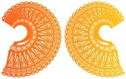 Симметрия 2 округляя вверх по богато украшенным орнаментам бесплатная иллюстрация