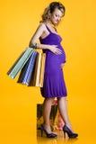 симпатичная беременная женщина Стоковое Фото