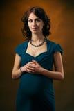 симпатичная беременная женщина Стоковые Фото