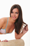 Симпатичная девушка брюнет Стоковое фото RF