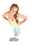 Симпатичная девушка в пижамах Стоковые Изображения