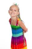 Симпатичная девушка в платье лета стоковая фотография