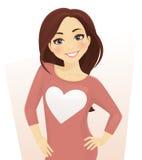 Симпатичная девушка иллюстрация вектора
