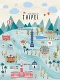 Симпатичная концепция перемещения Тайваня иллюстрация штока