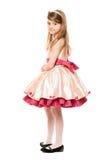 Симпатичная маленькая повелительница в платье стоковые фотографии rf