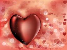 Симпатичная предпосылка валентинки с сердцем Стоковое Изображение RF