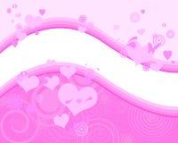Симпатичная розовая предпосылка Стоковое Изображение