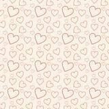 Симпатичная розовая предпосылка с сердцами Стоковая Фотография