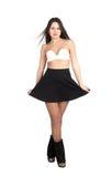 Симпатичная сексуальная юбка девушки вкратце Стоковое Фото