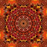 Симпатичная скатерть или красивый шарф с цветком - мандалой в этническом стиле иллюстрация штока