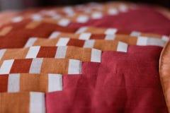 Симпатичная съемка подушки созданная методом заплатки Подушка от моей бабушки Стоковые Фото