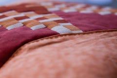 Симпатичная съемка подушки созданная методом заплатки Подушка от моей бабушки Стоковое Изображение