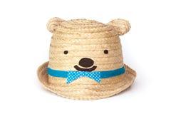 Симпатичная шляпа плюшевого медвежонка Стоковые Фотографии RF