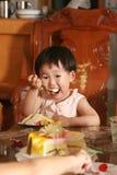 симпатичное детей китайское Стоковое Изображение