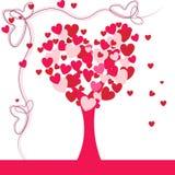 Симпатичное дерево сердца Стоковое Изображение
