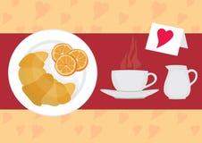симпатичное завтрака французское Стоковое Изображение RF