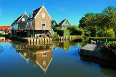 Симпатичное и мирное место Marken, Нидерланды Стоковая Фотография RF