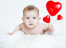 Симпатичное маленькое Валентайн младенца стоковая фотография rf