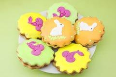 Симпатичное печенье пасхи Стоковое Изображение
